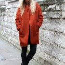 Orange coat H&M