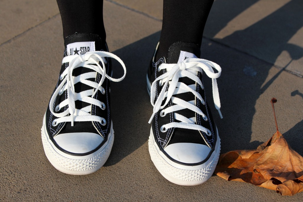 Converse Shoes Black And White Coloring Page