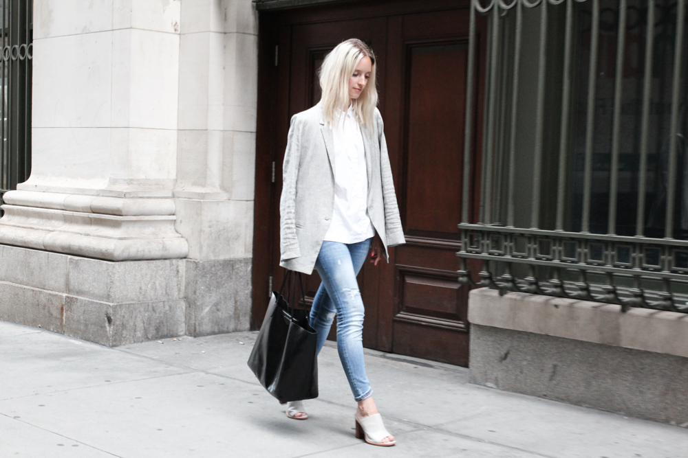 denim and mules