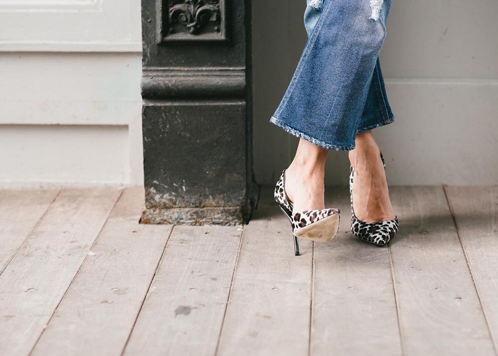 Leopard heels and ripped denim | THEFASHIONGUITAR