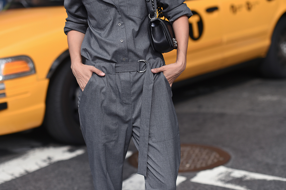 Grey jumpsuit | THEFASHIONGUITAR