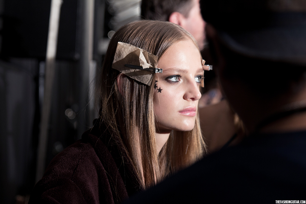 Backstage at Tommy Hilfiger Spring 2015 | THEFASHIONGUITAR