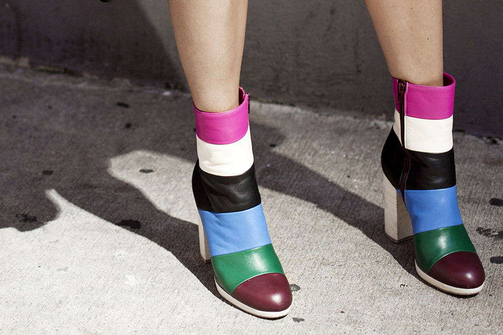 Valentino color block boots | THEFASHIONGUITAR