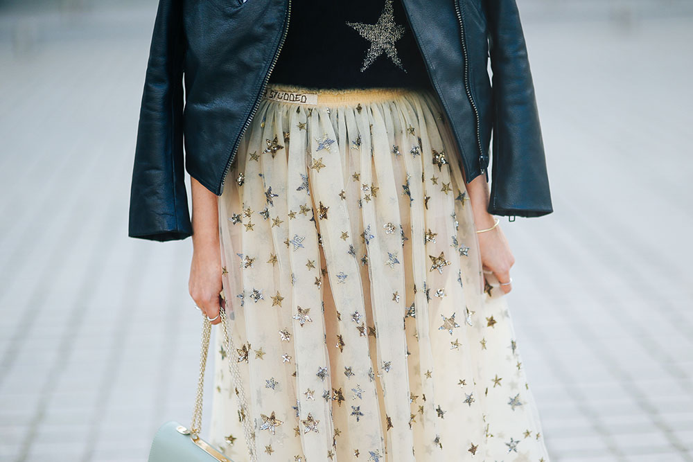 Valentino-Star-Studded-tulle-skirt