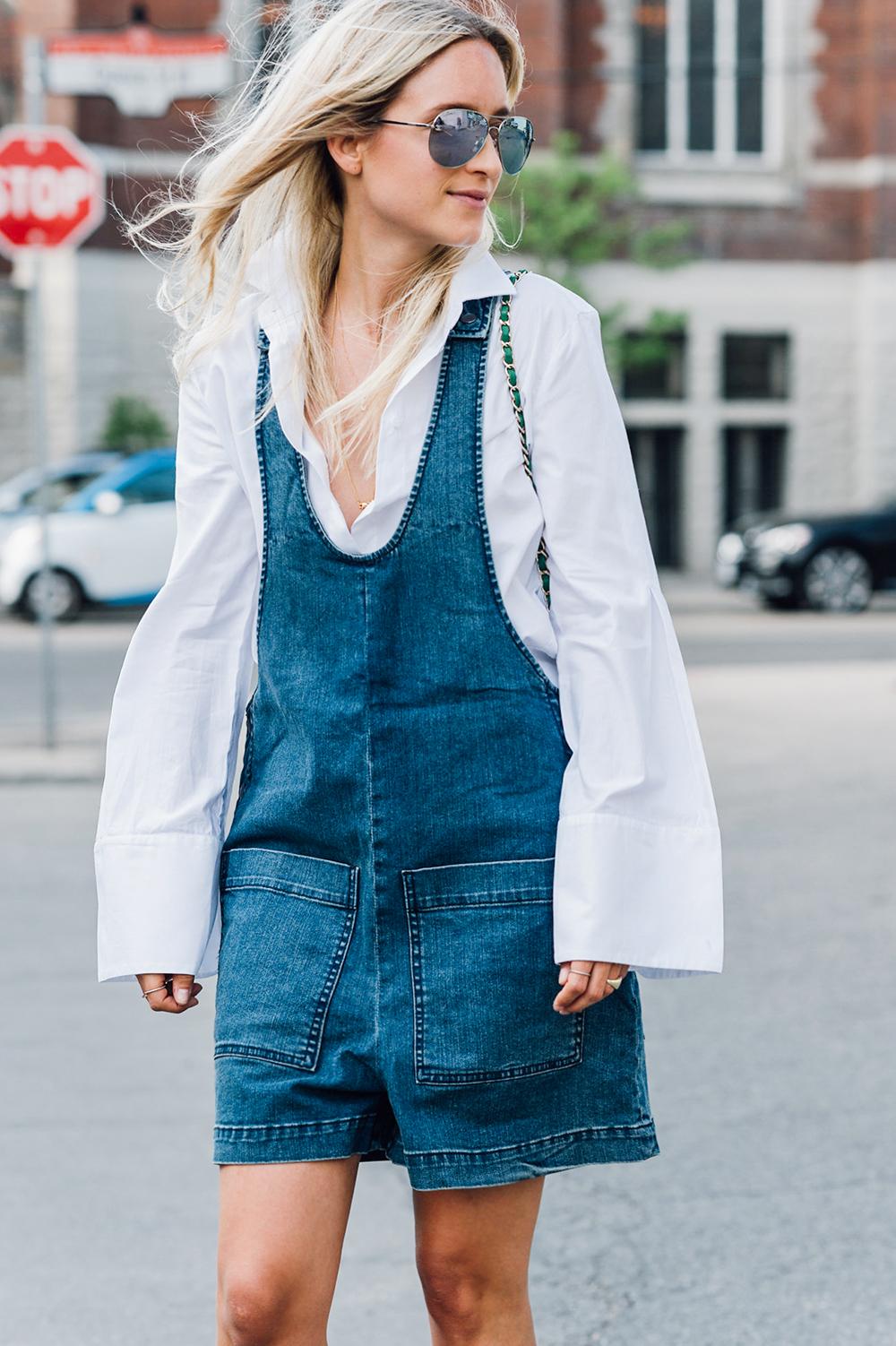 Tibi denim romper The Fashion Guitar