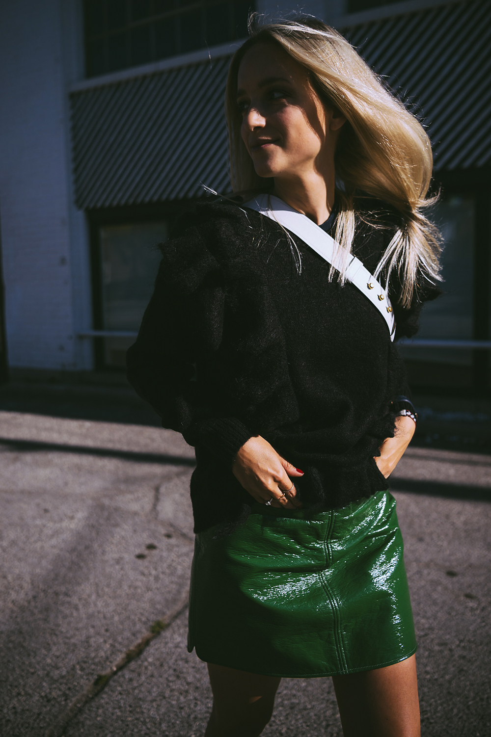 Courrèges skirt worn by Charlotte Groeneveld The fashion guitar