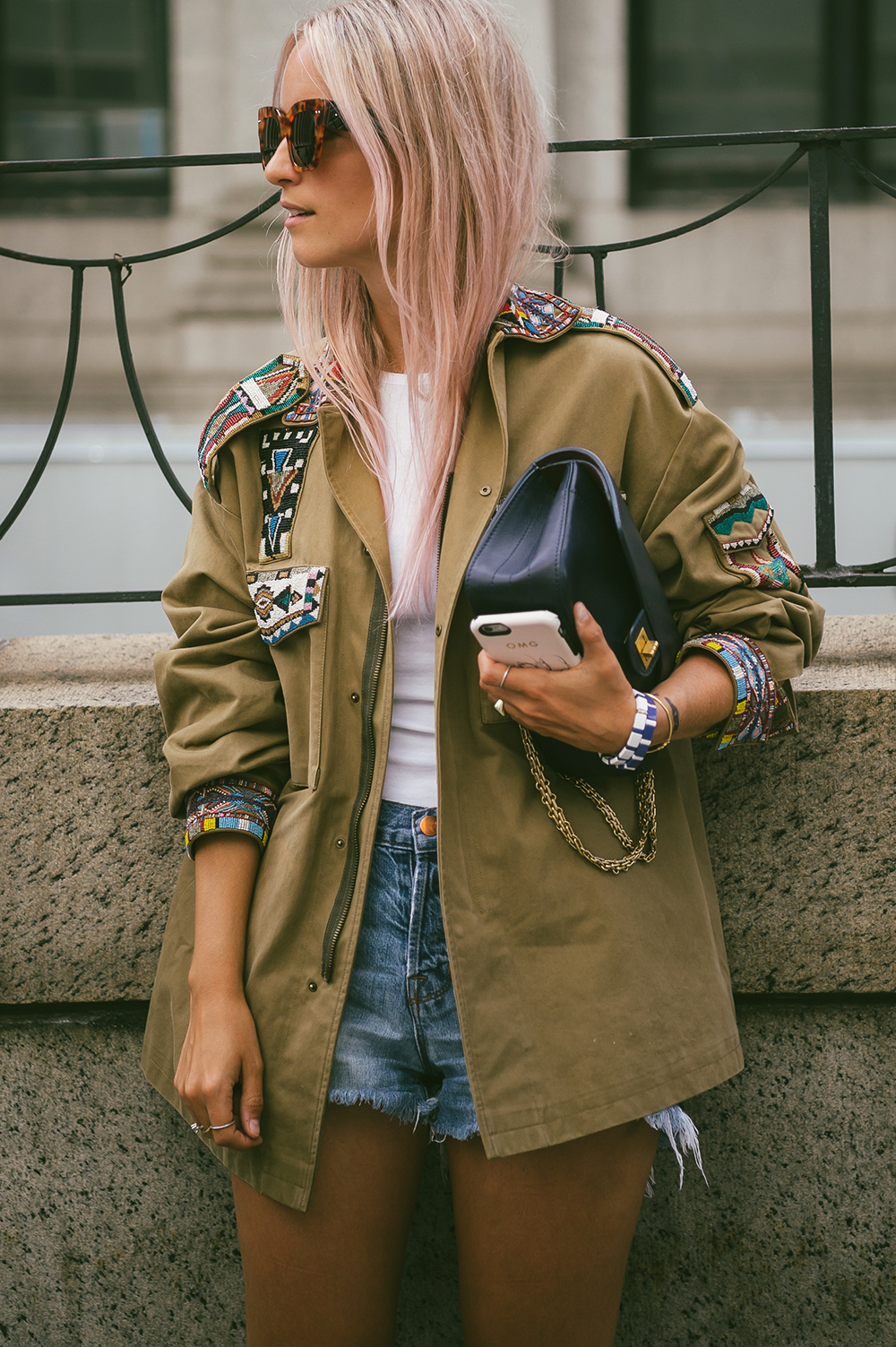 Valentino army jacket The fashion guitar Charlotte Groeneveld