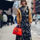 STATEMENT BAG AND WINTER FLORALS FOR NYFW