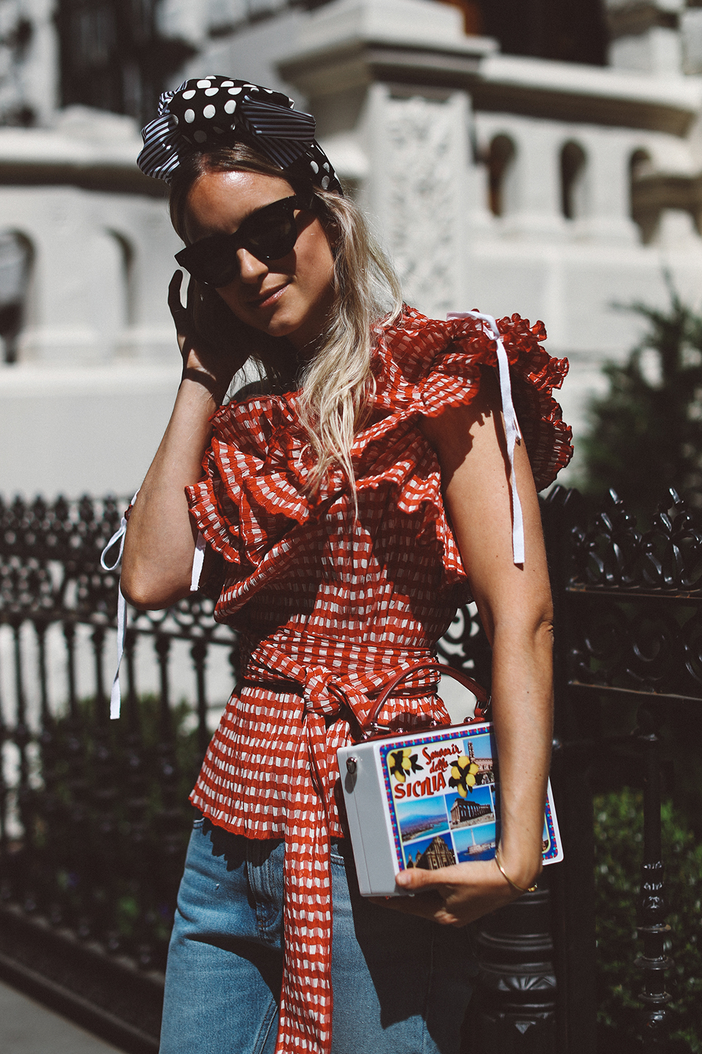 Charlotte Groeneveld Thefashionguitar in Dolce & Gabbana and Rosie Assoulin