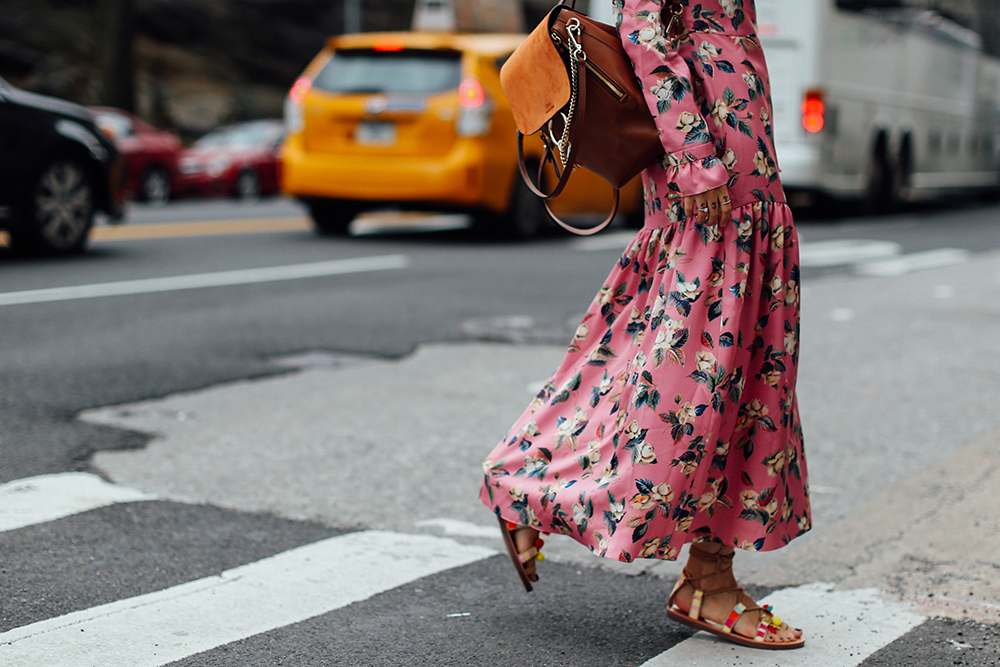 Charlotte Groeneveld Thefashionguitar in Madden Girl sandals via DSW and Vilshenko dress