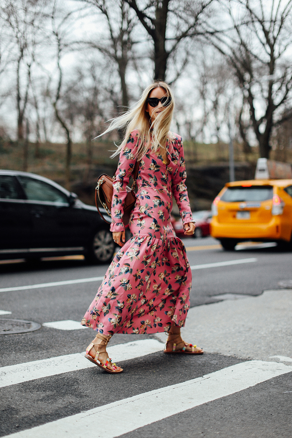 Charlotte Groeneveld Thefashionguitar in Madden Girl sandals and Vilshenko dress