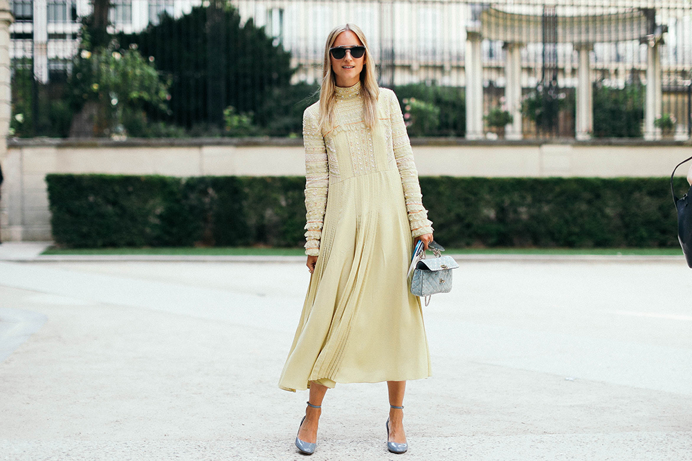 Charlotte Groeneveld Thefashionguitar attends the Valentino Haute Couture show in Paris