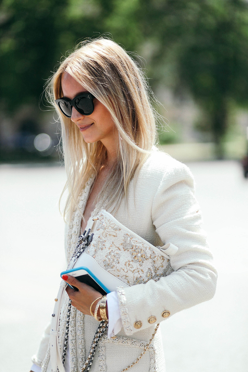 Charlotte Groeneveld Thefashionguitar attends the Chanel Haute Couture show in Paris