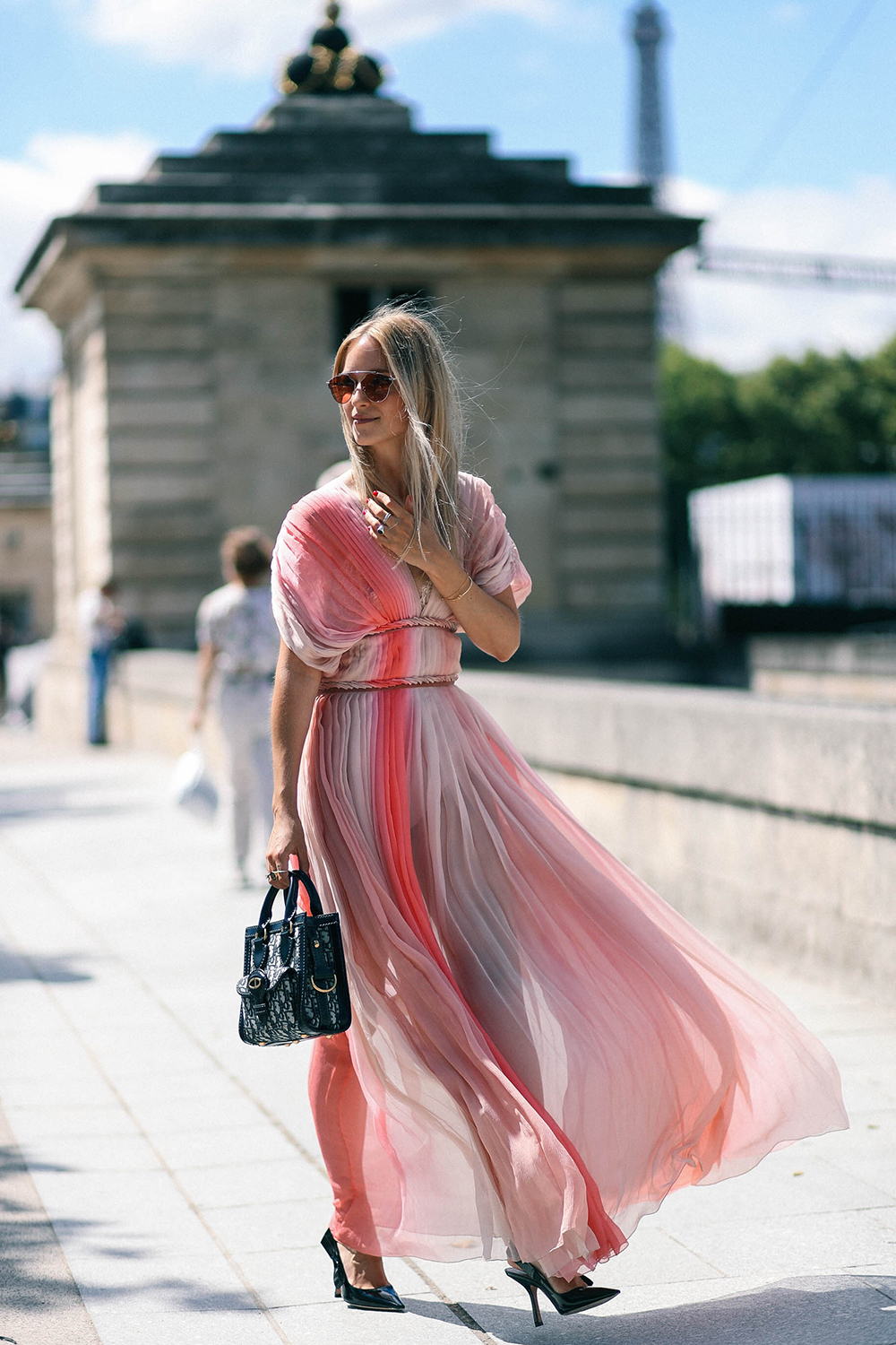 Charlotte Groeneveld Thefashionguitar attends the Dior Haute Couture show in Paris
