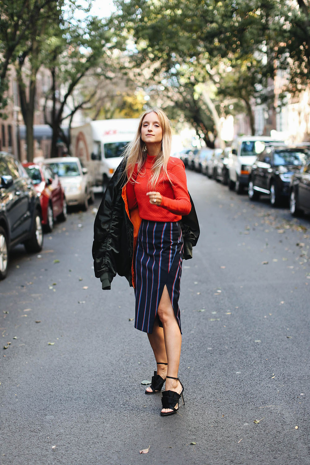 Charlotte Groeneveld in Altuzarra for The Outnet