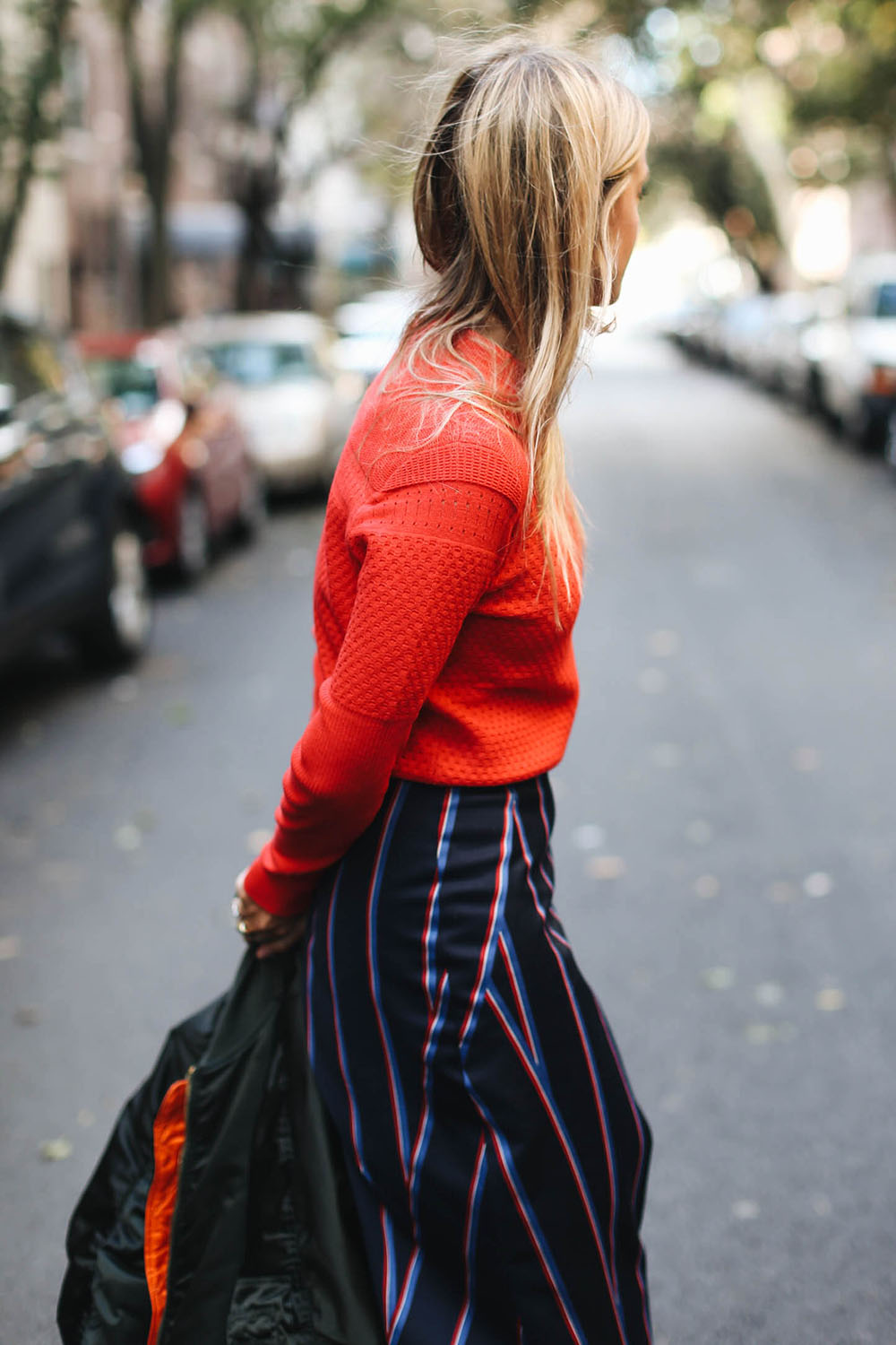 Charlotte Groeneveld in Carven for The Outnet